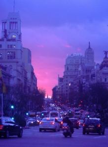 Atardecer del 27 de enero en Madrid .