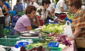 Escena del mercado de Gernika.